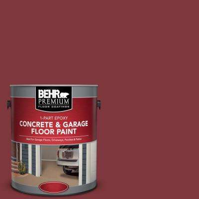 1 gal. #SC-112 Barn Red 1-Part Epoxy Satin Interior/Exterior Concrete and Garage Floor Paint