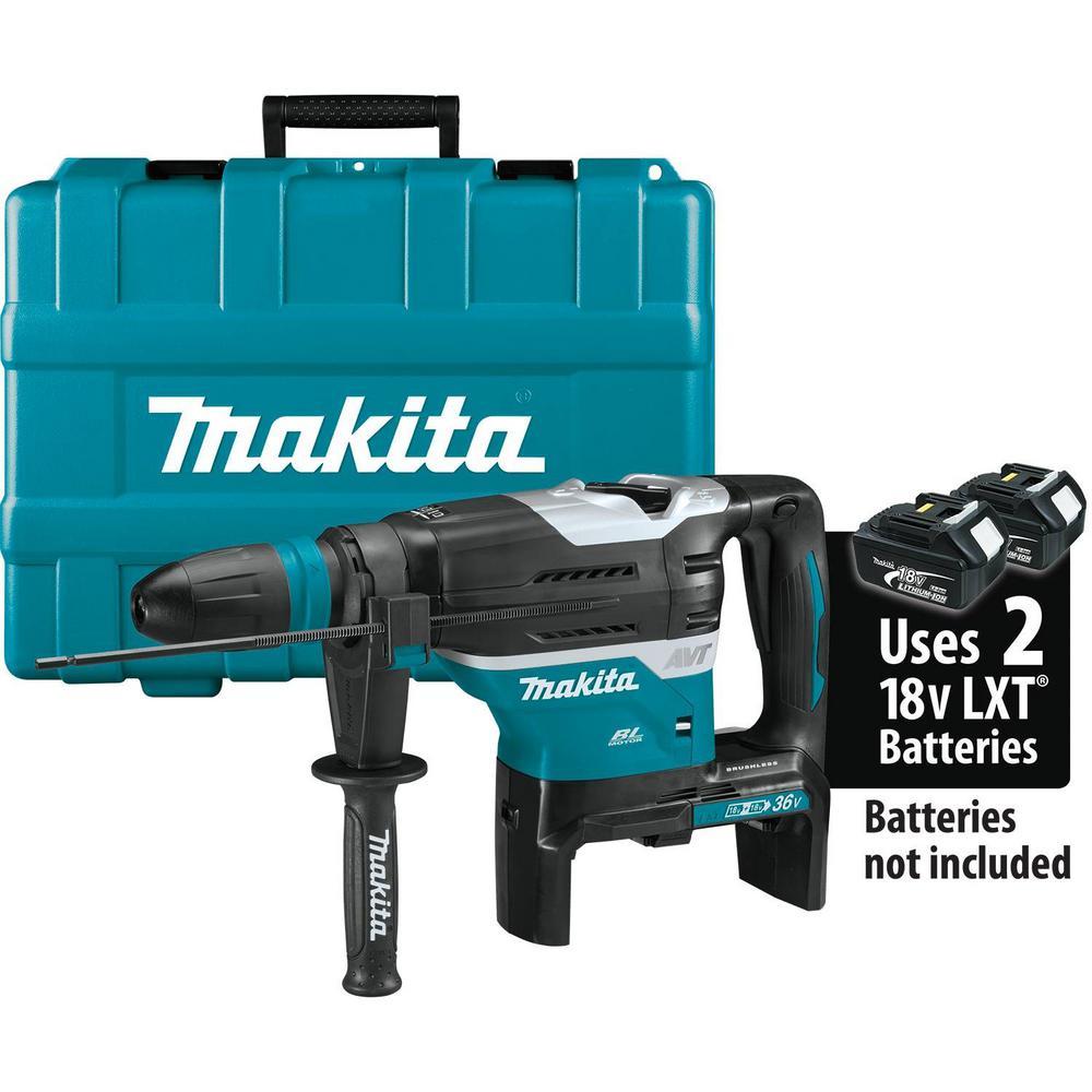 Brushless Cordless 1-9//16 Advanced AVT Rotary Hammer Tool Only 36V Accepts Sds-Max Bits Aws Makita XRH07ZKU 18V x2 LXT Lithium-Ion