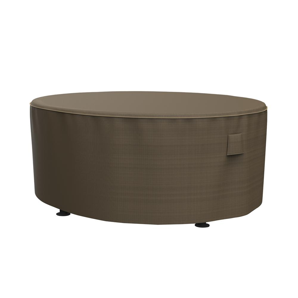 Extra Large Round Table Cloth.Budge Neverwet And Reg Hillside Extra Large Black And Tan Round Patio Table Cover