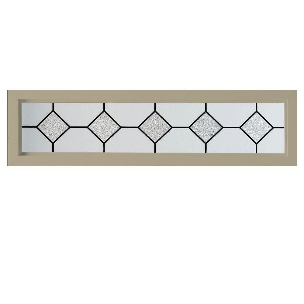 47.5 in. x 11.5 in. Mission Decorative Glass Picture Vinyl Window - Tan