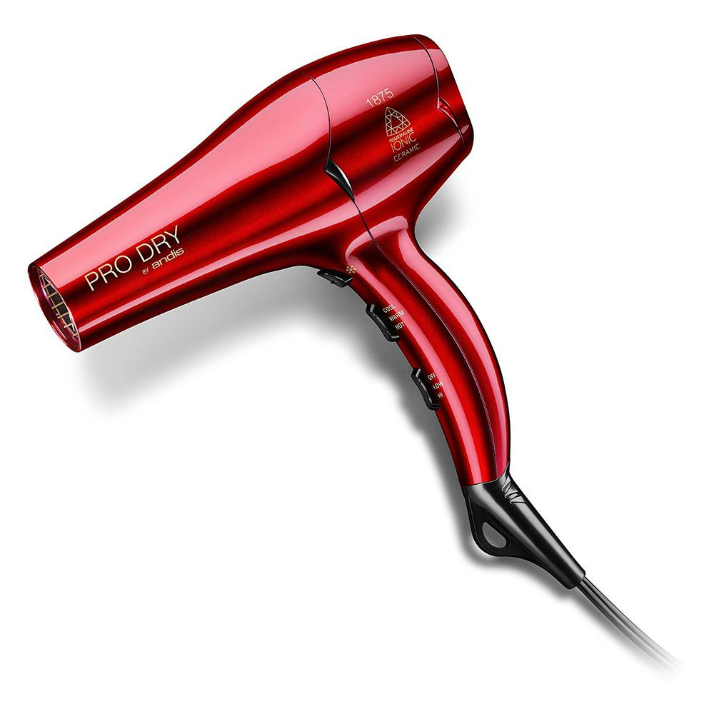 1875-Watt Ionic Ceramic Hair Dryer in Gloss Red