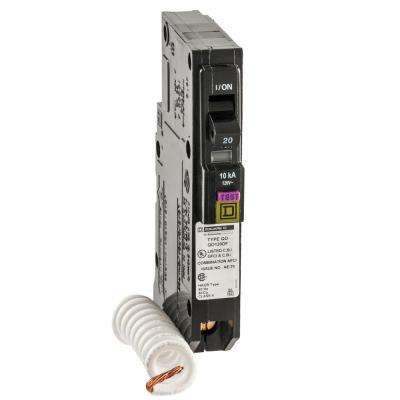 QO 20 Amp Single-Pole Dual Function (CAFCI and GFCI) Circuit Breaker
