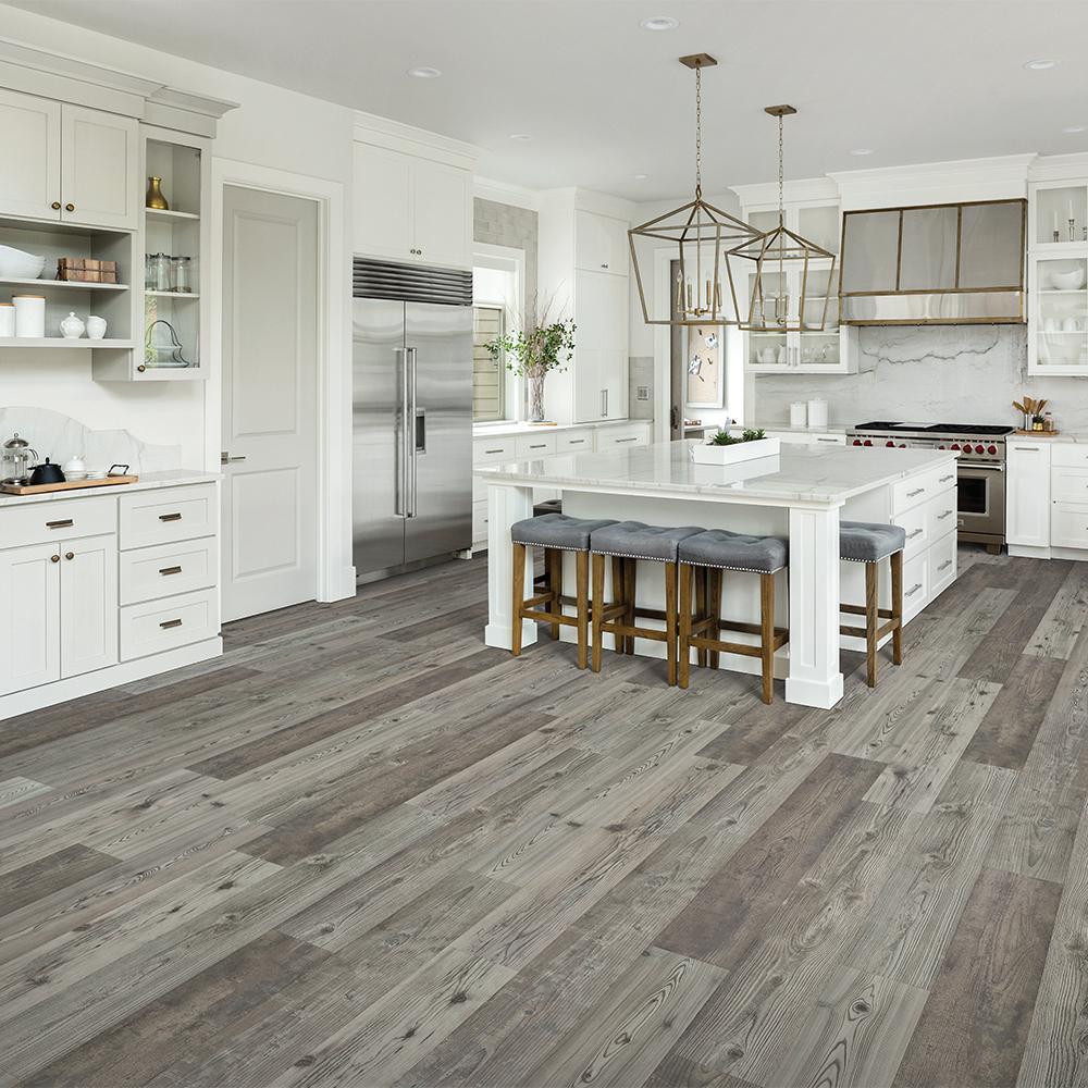 Pergo Outlast 7 48 In W Grey Optimus, Grey Laminate Flooring Home Depot