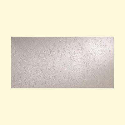 Nettle 96 in. x 48 in. Decorative Wall Panel in Gloss White