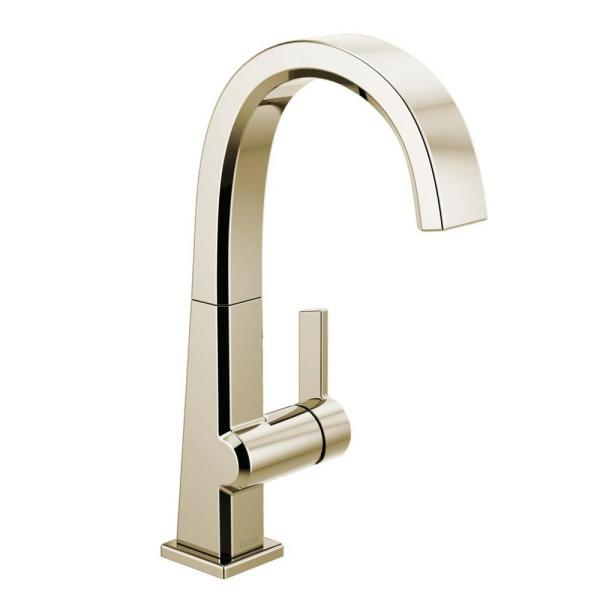 Pivotal Single-Handle Bar Faucet in Polished Nickel