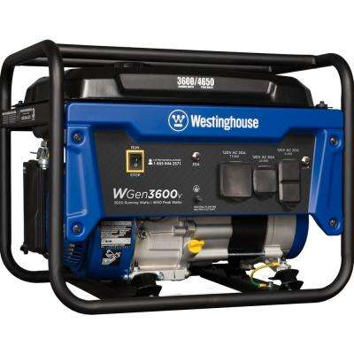 4,650/3,600-Watt Gasoline Powered RV-Ready Portable Generator with Automatic Low Oil Shutdown
