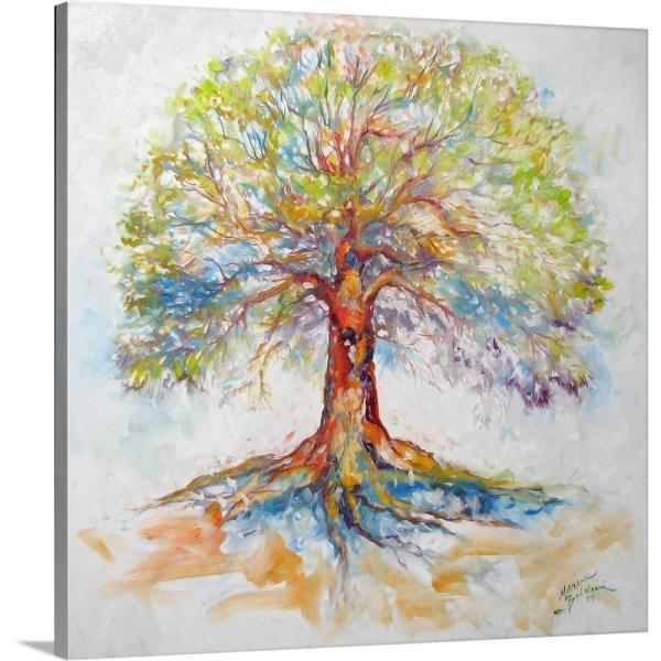 Life is a Journey Tree of Life Framed Art Wall Decor