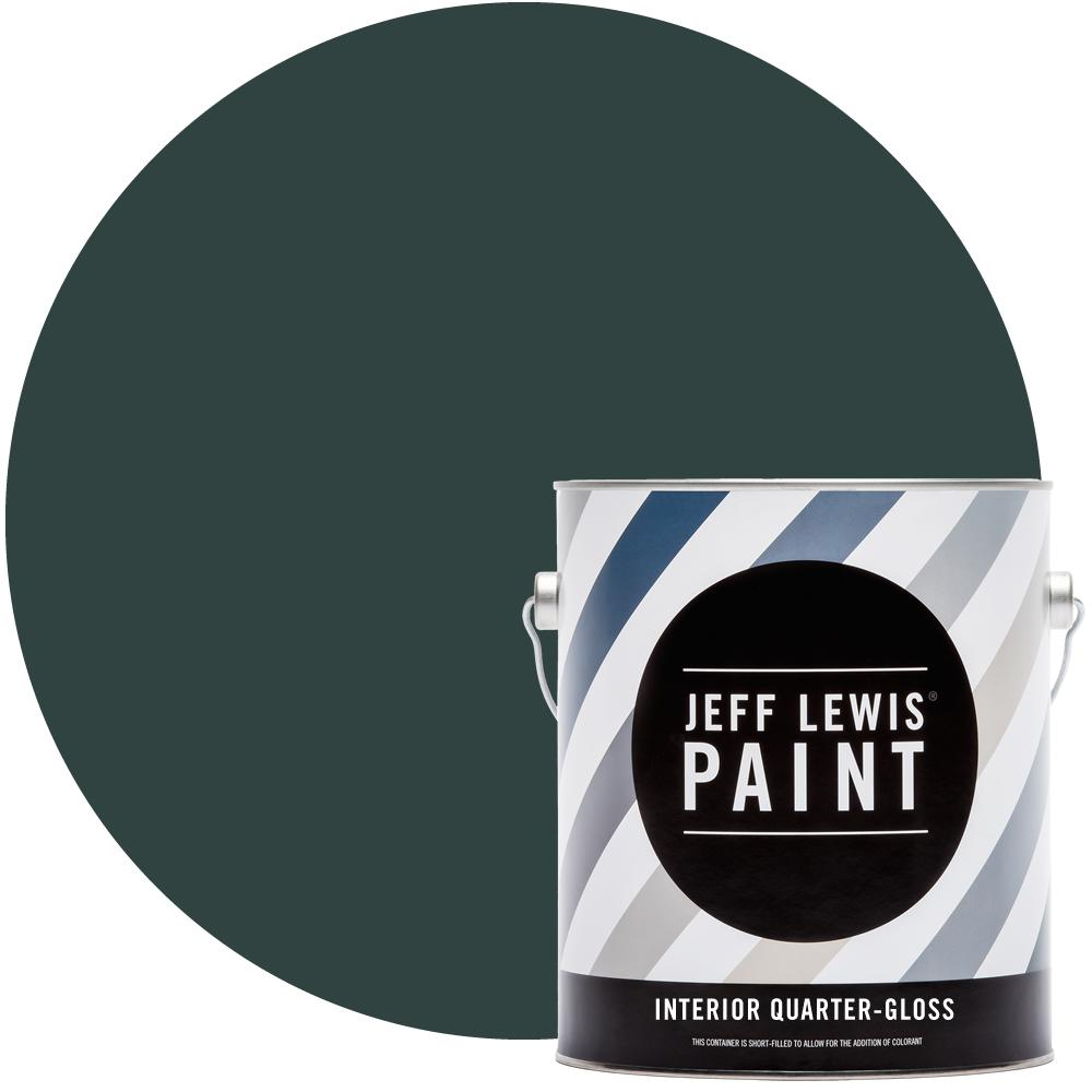 Jeff Lewis 1 gal. #514 Green with Envy Quarter-Gloss Interior Paint