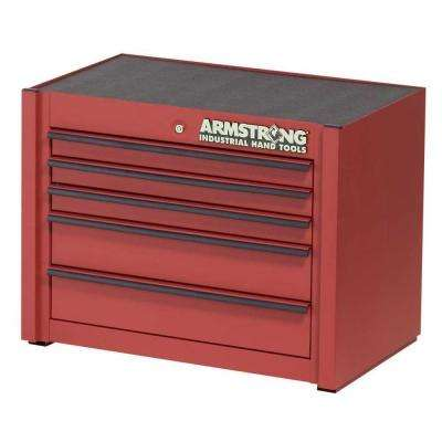 30 in. 5-Drawer Industrial Series Top Storage Chest, Red