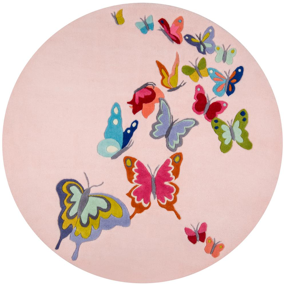 Lil Mo Whimsy Butterfly Pink 5 ft. x 5 ft. Indoor