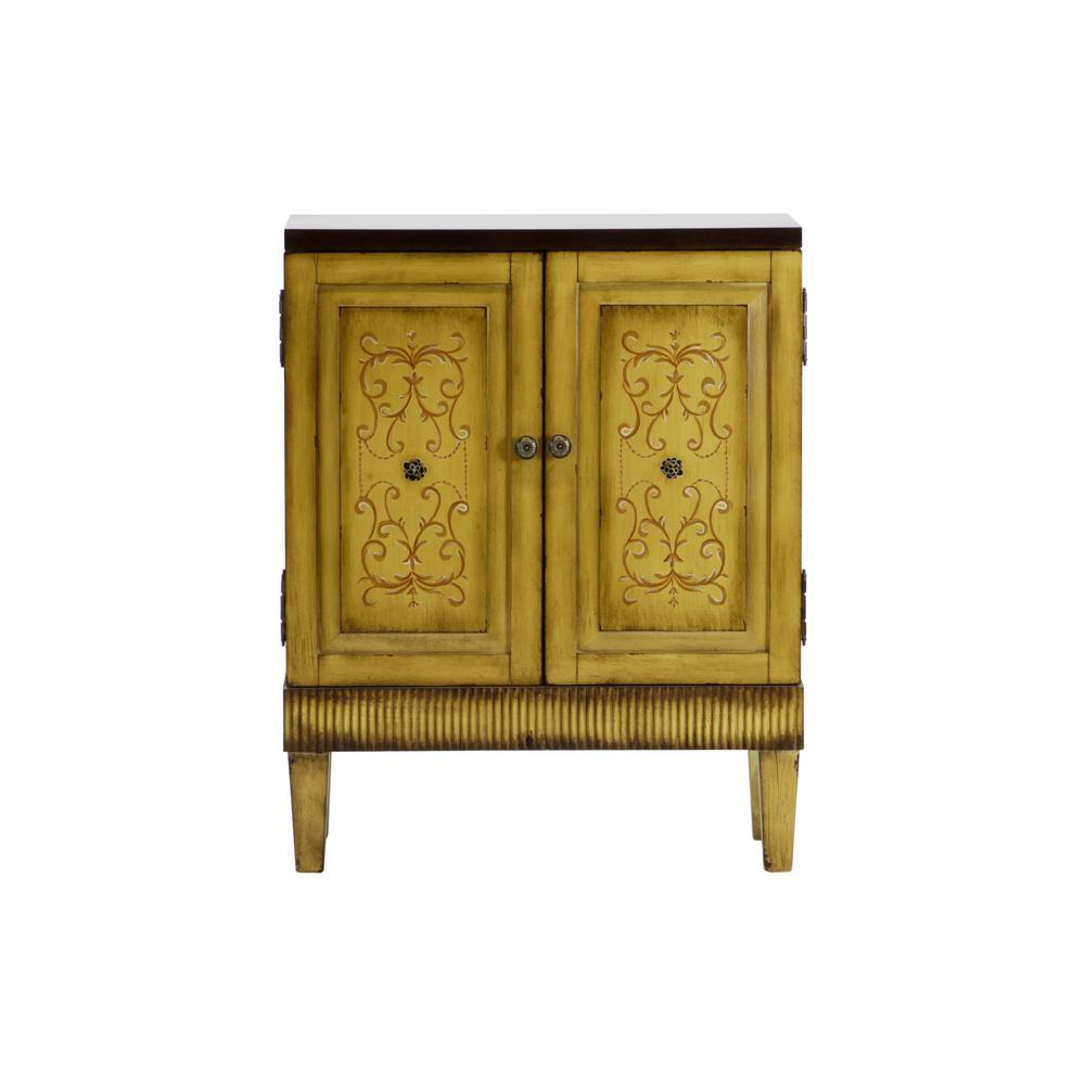 Hand painted Distressed Natural Accent Chest - Hand Painted Distressed Natural Accent Chest-DWS-379 - The Home Depot