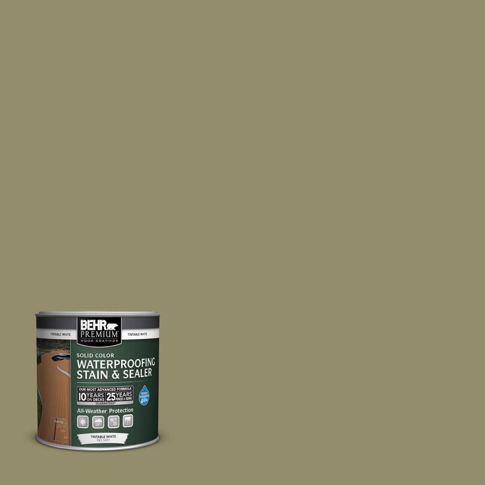 BEHR Premium 8 oz. #SC151 Sage Solid Color Waterproofing Stain and Sealer Sample
