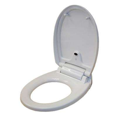 Round Touch-Free Sensor Controlled Automatic Toilet Seat in White