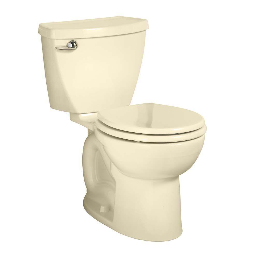 American Standard Cadet 3 Powerwash Tall Height 10 in. Rough 2-piece 1.6 GPF Single Flush Round Toilet in Bone