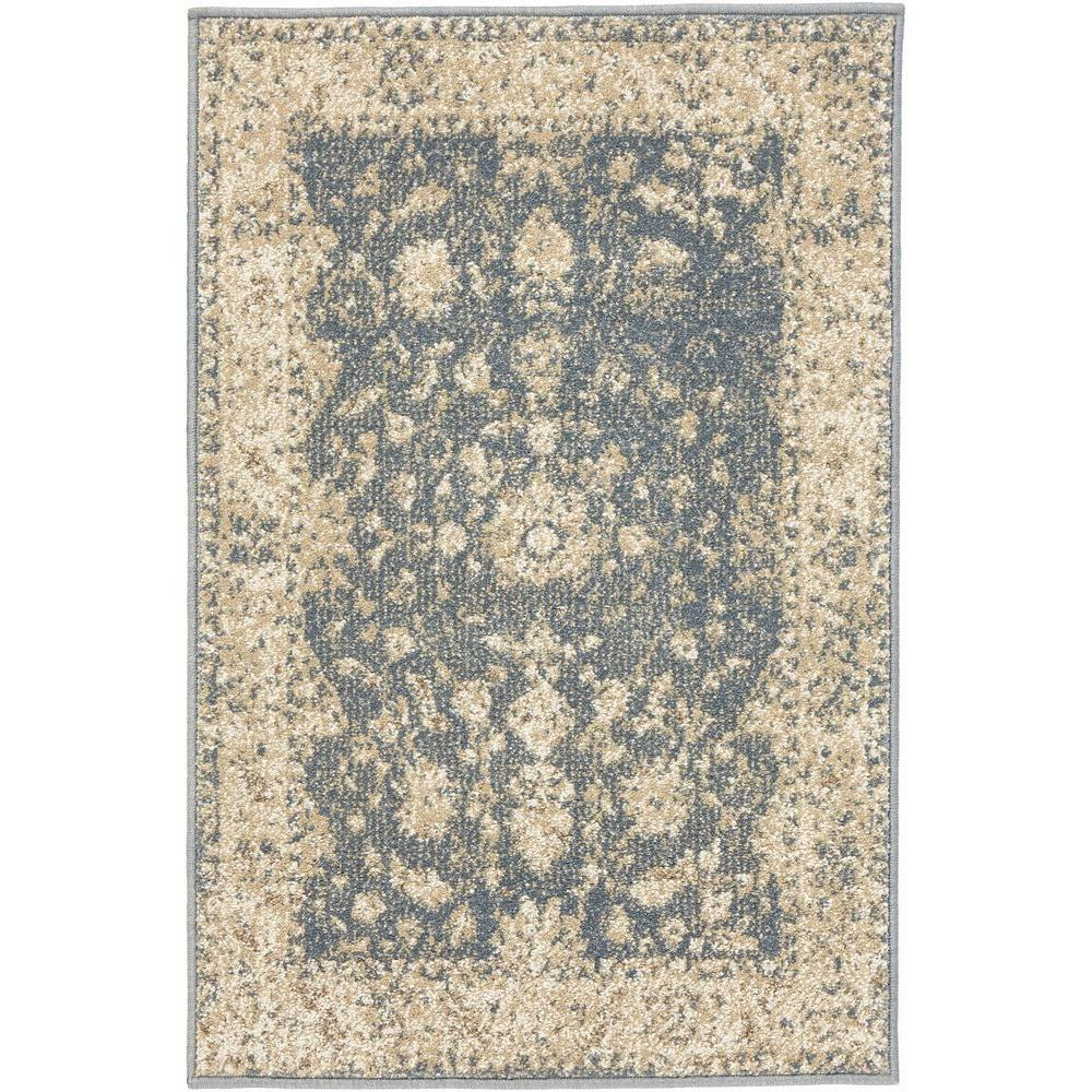Home decorators collection old treasures blue cream 2 ft for Home decorators rugs blue