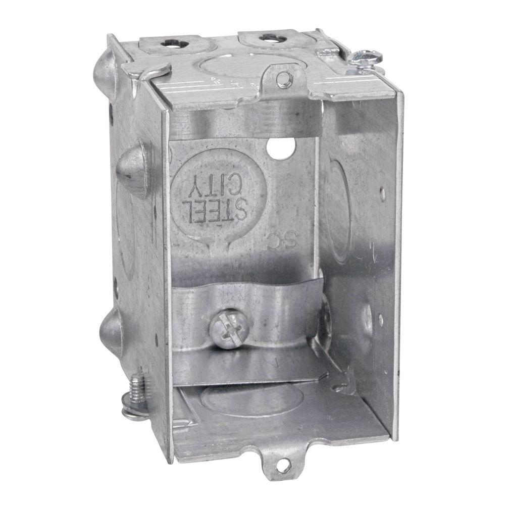 Gang-Able Steel Switch/Outlet Box (25 per Case)-LXWLE-25 - The Home ...