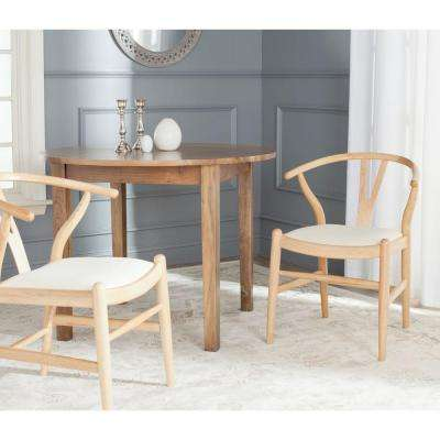 Aramis Natural and Ivory Dining Chair (Set of 2)