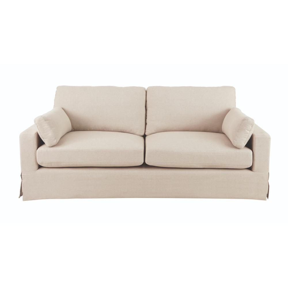 Home Decorators Collection Addilyn Linen Jute Sofa