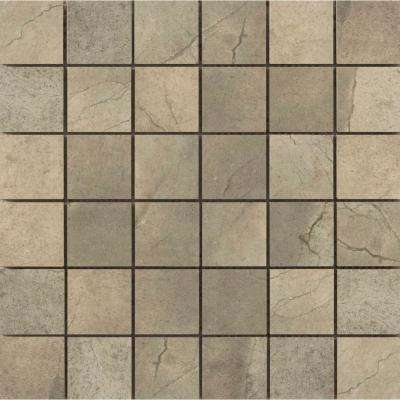 St. Moritz Ii Olive 11.73 in. x 11.73 in. x 8mm Porcelain Mesh-Mounted Mosaic Tile