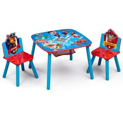 Nick Jr. PAW Patrol 3-Piece Multi-Color Table and Chair Set with Storage