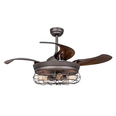Benally 46 in. Indoor Antique Gray Downrod Mount Retractable Ceiling Fan with Light Kit Remote Control