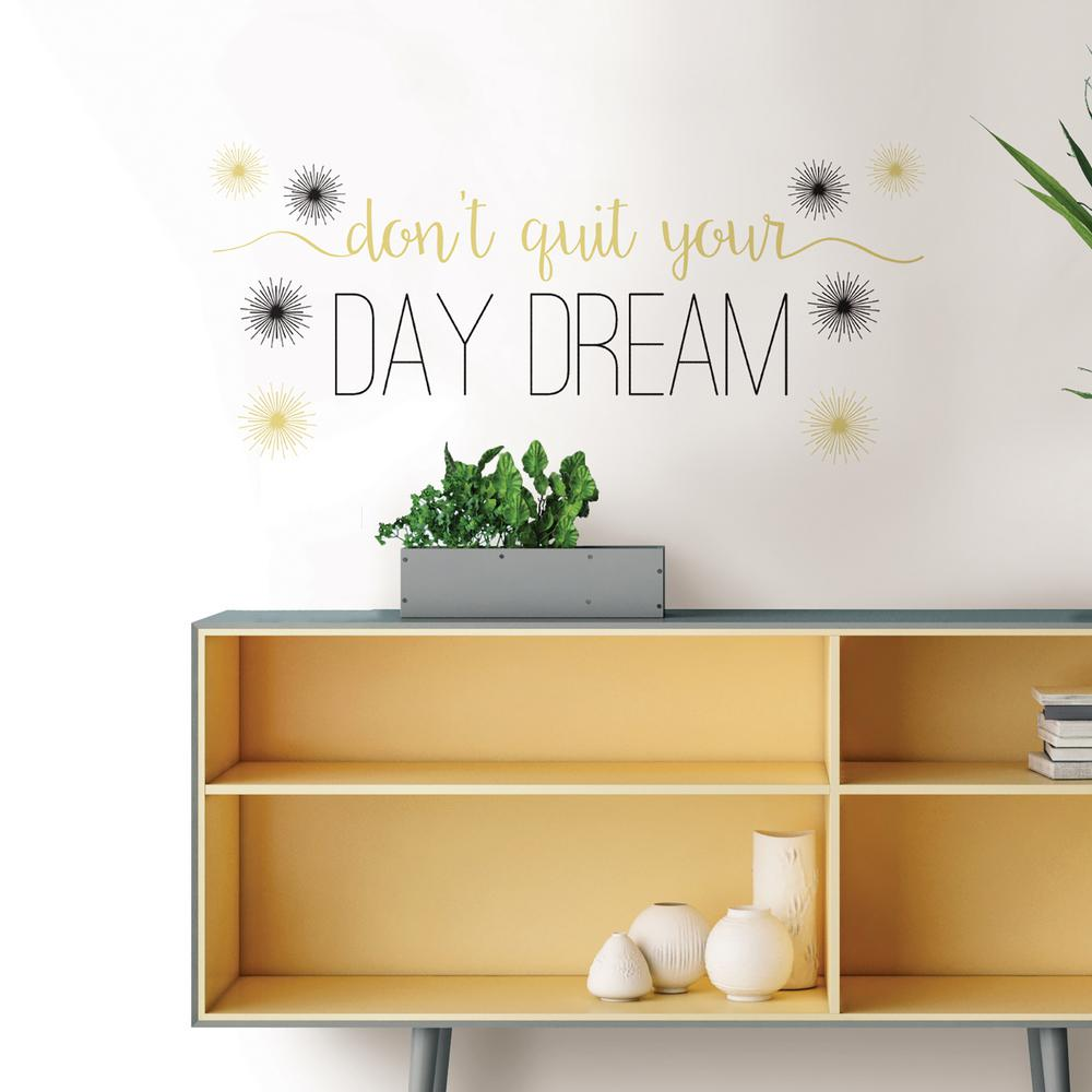 WallPOPs Day Dream Wall Quote  sc 1 st  Home Depot & WallPOPs Day Dream Wall Quote-DWPQ2388 - The Home Depot