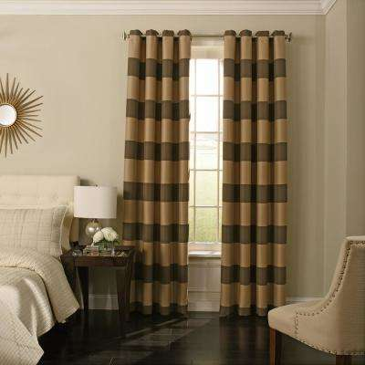 Gaultier 63 in. L Chocolate Grommet Curtain