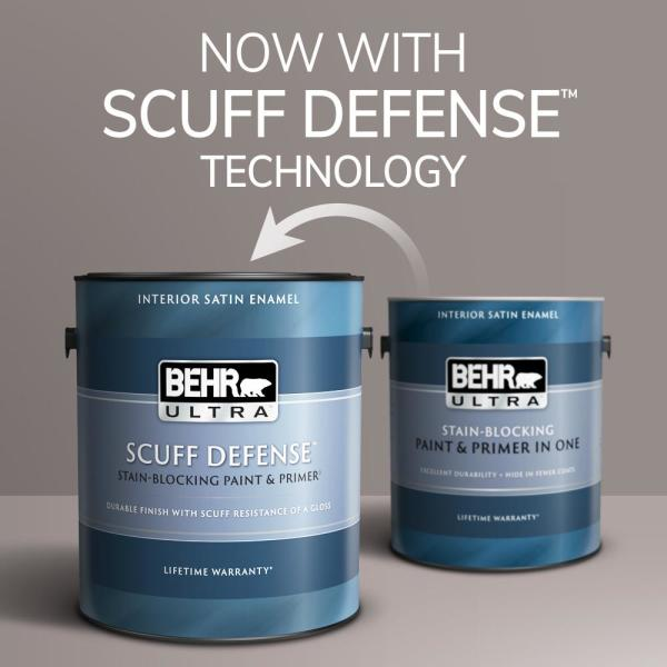 Reviews For Behr Ultra 1 Gal Icc 57 Dried Thyme Extra Durable Satin Enamel Interior Paint Primer 775401 The Home Depot