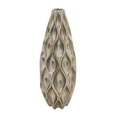 10.5 in. Silver Decorative Vase