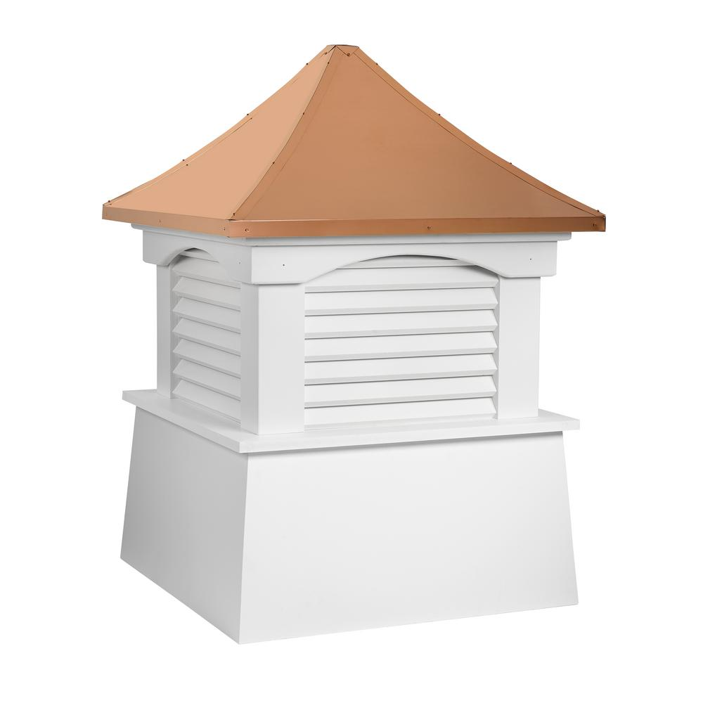 Coventry 84 in. x 107 in. Vinyl Cupola with Copper Roof
