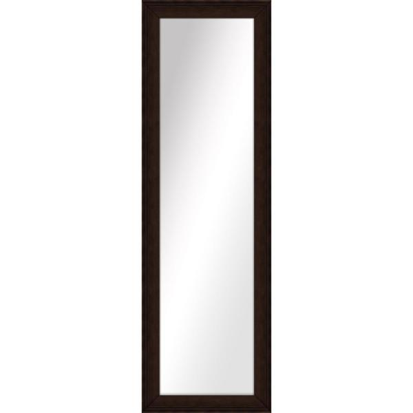 Large Rectangle Brown Art Deco Mirror (52.5 in. H x 16.5 in. W)