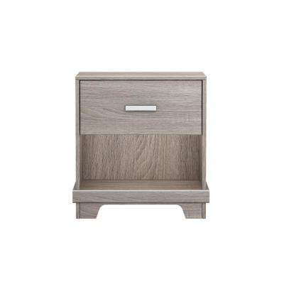 Manhattan 1-Drawer Sonoma Nightstand