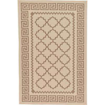 "Outdoor Beige 5'3"" x 8' Indoor/Outdoor Rug"