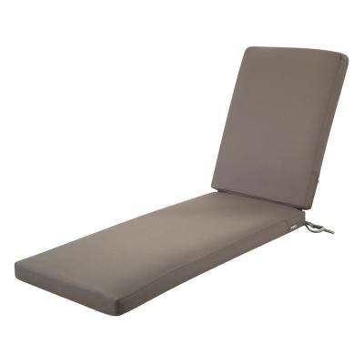 Ravenna Dark Taupe 72 in. L x 21 in. W x 3 in. Thick Outdoor Chaise Lounge Cushion