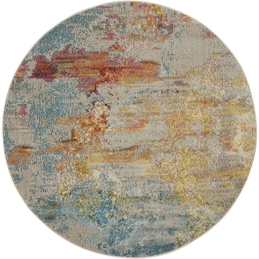 Nourison Celestial Sealife 5 Ft Round Area Rug 362254