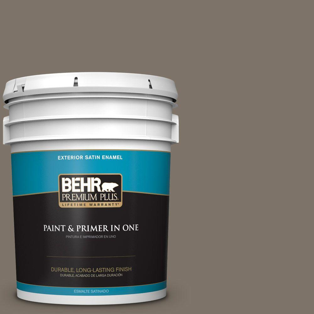 5-gal. #HDC-NT-05 Aged Olive Satin Enamel Exterior Paint