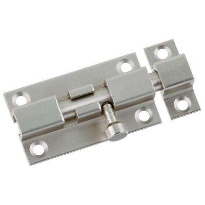 3 in. Satin Nickel Barrel Door Bolt