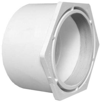 12 in. x 8 in. DWV PVC Flush Bushing Cleanout Adapter