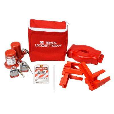 Valve Lockout Pouch Kit with Steel Padlocks and Tags