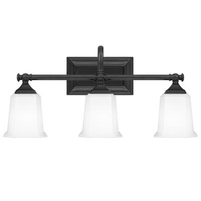 Nicholas 3-Light Earth Black Vanity Light