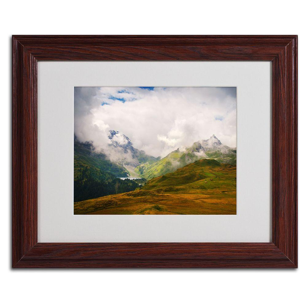 11 in. x 14 in. Peaceful Switzerland Matted Framed Art