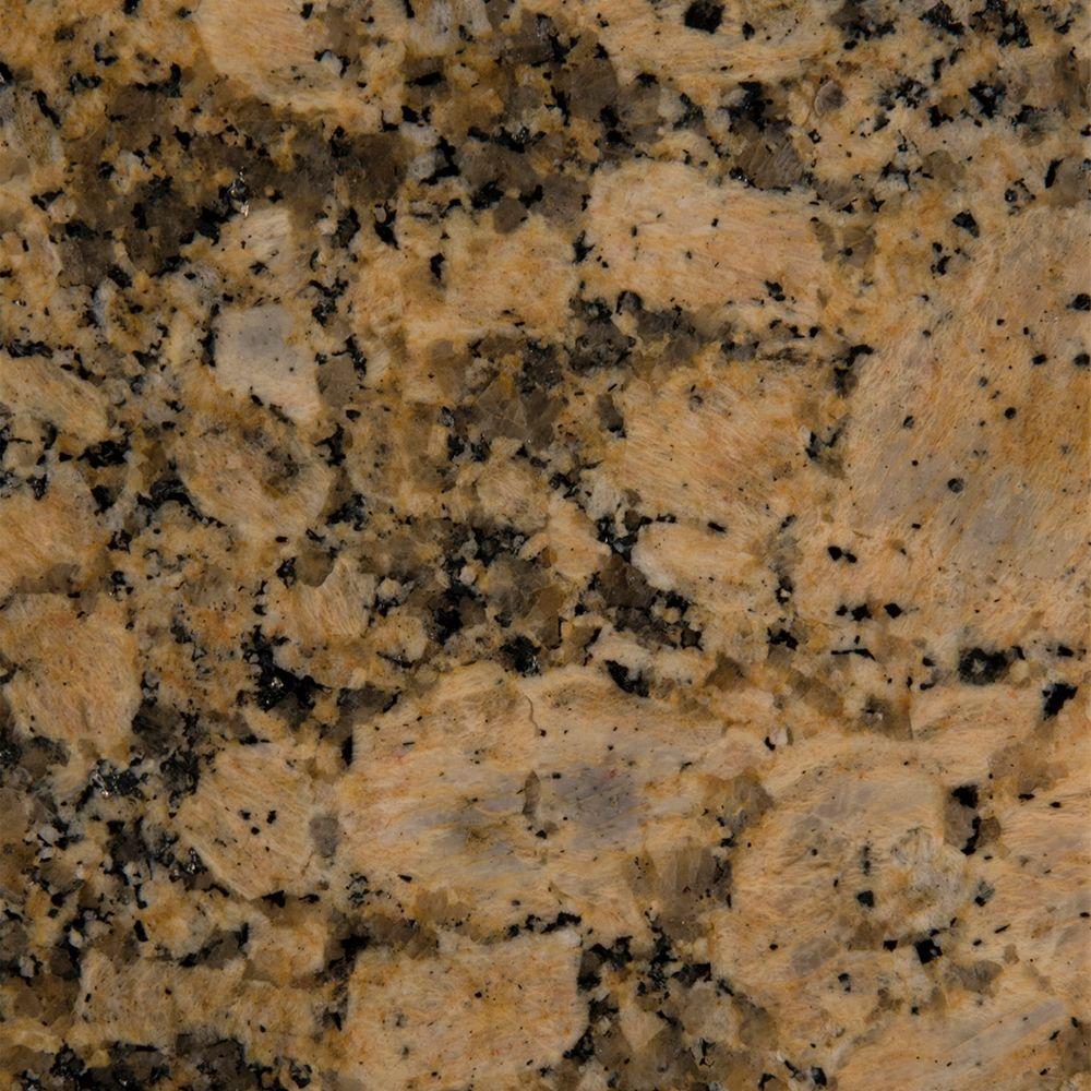 3 in. x 3 in. Granite Countertop Sample in Giallo Fiorito