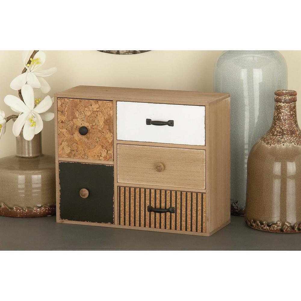 5 Drawer Wooden Jewelry Box