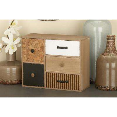 9 in. x 12 in. 5-Drawer Wooden Jewelry Box