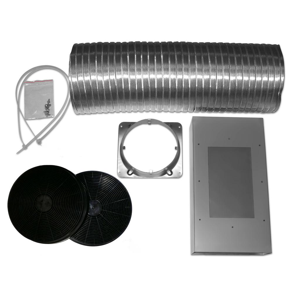Ancona Non-Ducted Recirculation Kit for Tornado III Range Hood AN-1172 and  AN