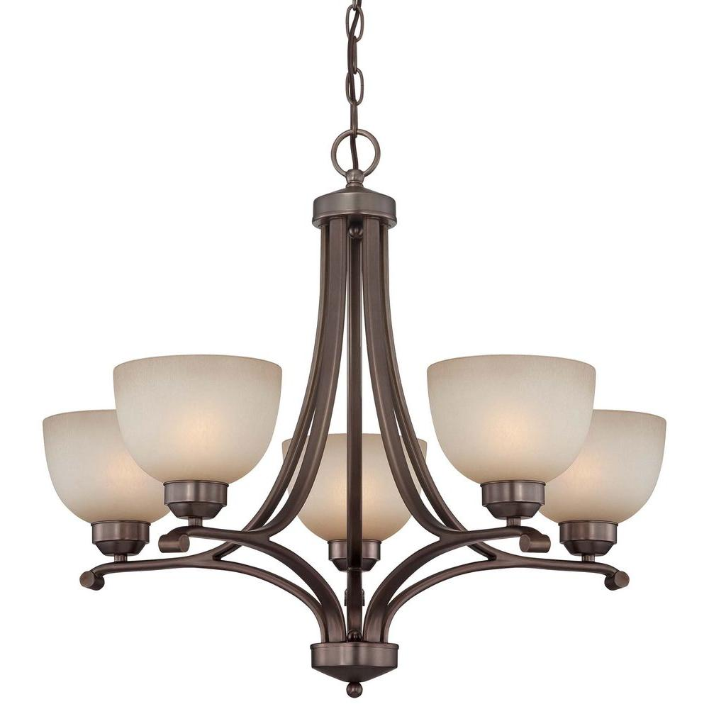 Minka Lavery Paradox 5-Light Harvard Court Bronze Chandelier