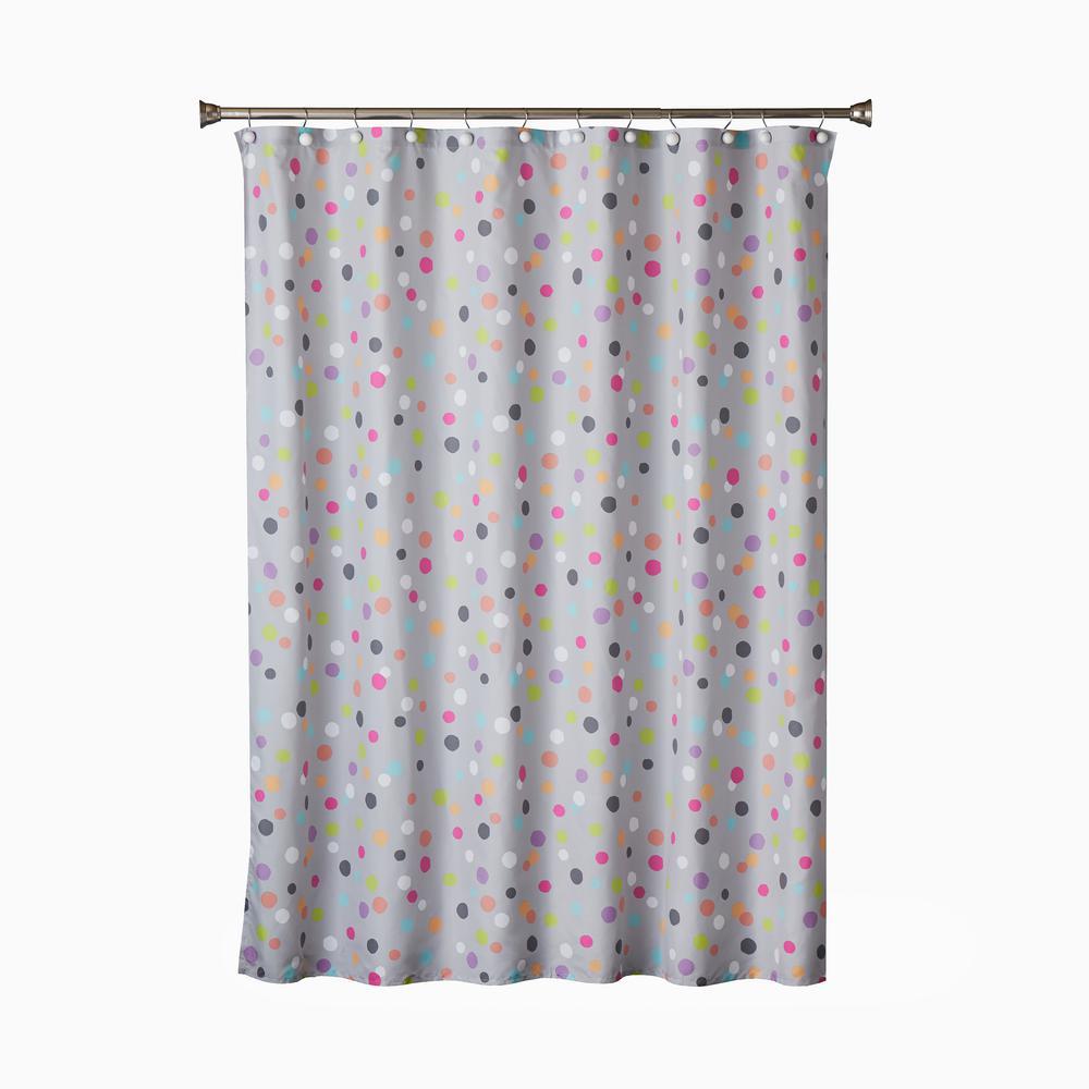 Confetti 72 in. Multi Shower Curtain