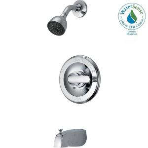 Delta Classic Single-Handle 1-Spray Tub and Shower Faucet in Chrome (Valve Included) by Delta