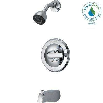 Classic Single-Handle 1-Spray Tub and Shower Faucet in Chrome (Valve Included)