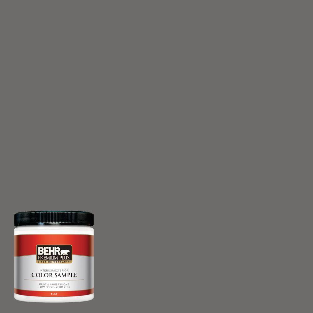 BEHR Premium Plus 8 oz. #780F-6 Dark Granite Interior/Exterior Paint Sample
